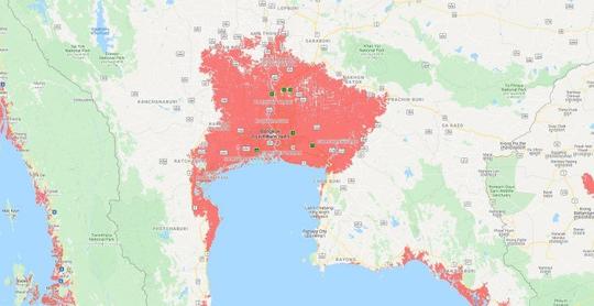2018曼谷地铁线路图