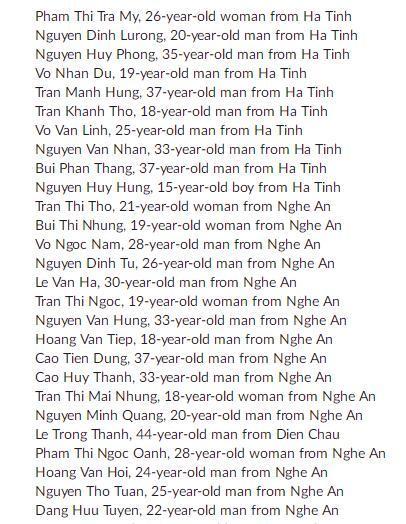 """英国""""死亡货车""""案39名遇难者名单公布 正与越南交涉遗体移交事"""