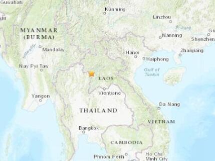 老挝与泰国边境地区发生6.1级地震 震源深度10千米