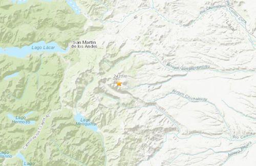阿根廷西部地区发生5.3级地震 震源深度162.9公里