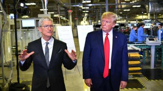 特朗普炮轰苹果公司:美政府那么帮你 都不愿解