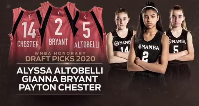 科比女儿获选WNBA荣誉新秀,进入WNBA赛场是吉安娜一直以来的梦想
