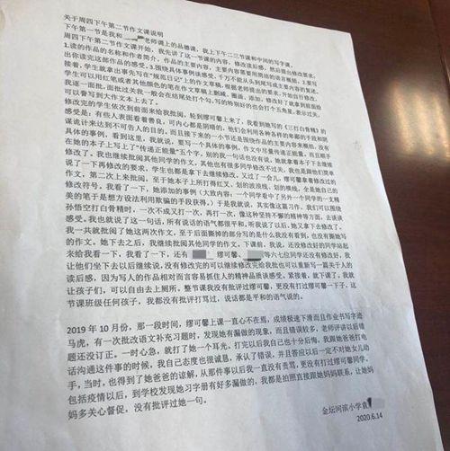 涉事教师承认曾掌掴坠楼小学生 目前并未被停职