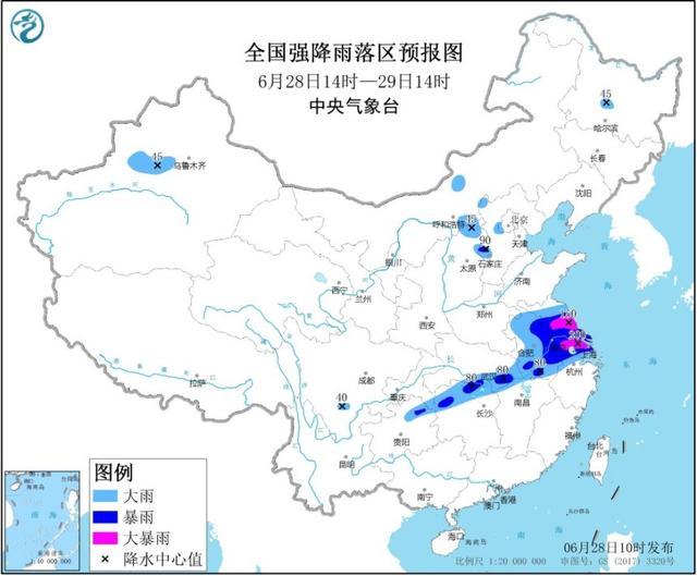 上海等9省市将有大到暴雨