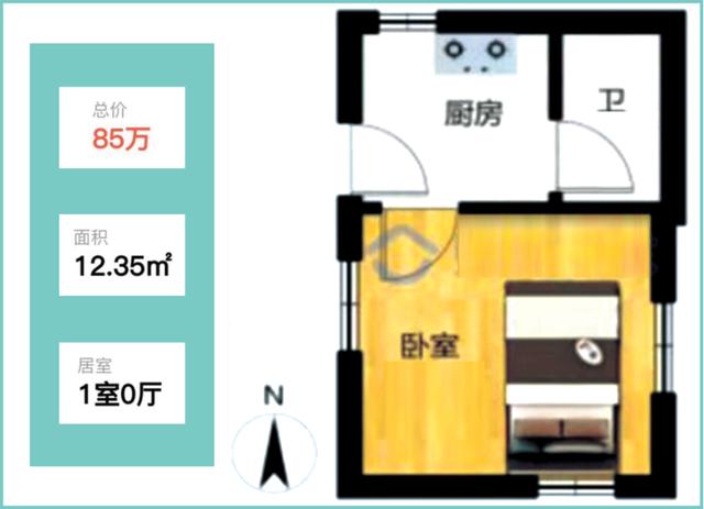 青岛12.35平学区房卖84万 建于上世纪20年代