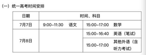 北京高考成绩7月25日发布 7月27-31日填报志愿