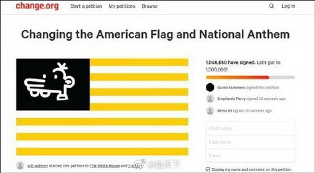 上百万网民请愿修改美国国旗 为什么要修改国旗?