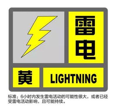 上海暴雨预警:未来6小时内将出现7-9级雷雨大风