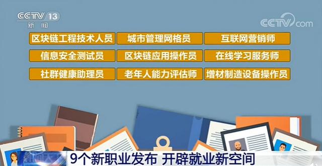 三部门联合发布9个新职业 涉及哪些行业?