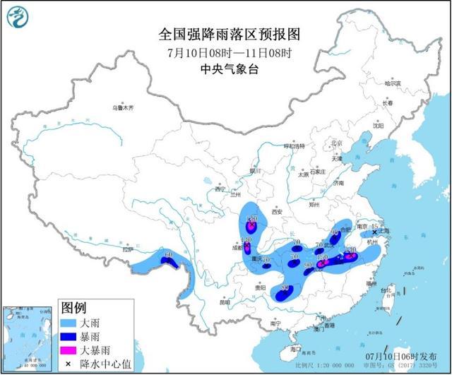 13省份局部有大到暴雨 中央气象台继续发布暴雨黄色预警
