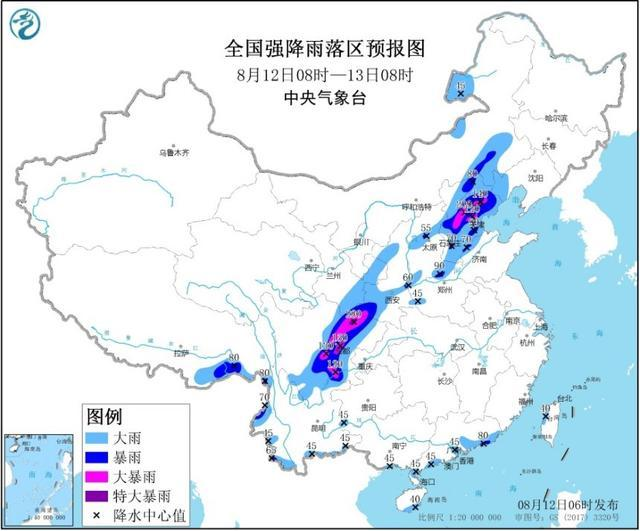 京津冀四川等地局地有大暴雨 发布暴雨黄色预警