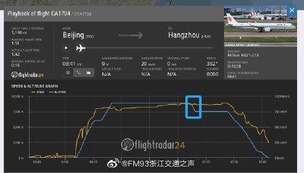 国航一航班120秒突降千米 乘务员受伤 旅客没有受伤