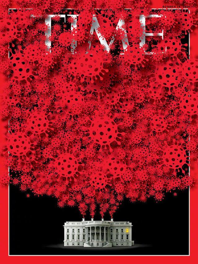 """《时代》周刊最新一期封面:""""零号病人""""和白宫的疫情暴发"""