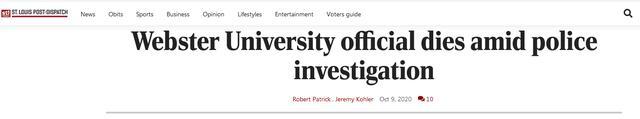 美国一大学孔子学院中方代表死亡 警方与FBI曾搜查其住所