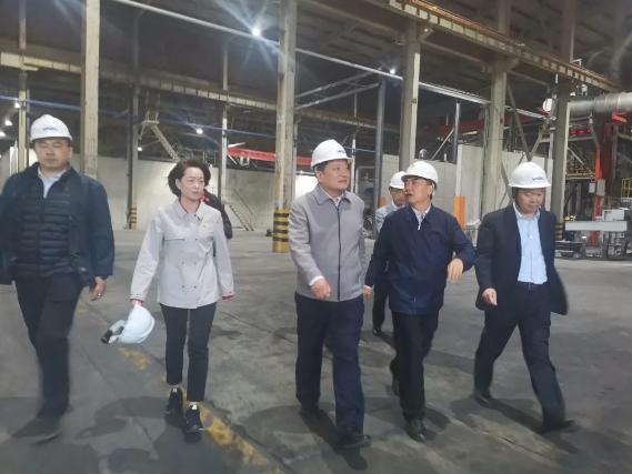 巩义市委书记、市长袁聚平一行到豫联集团视察工作