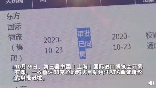 一颗价值超2亿钻石运抵上海 重达88克拉